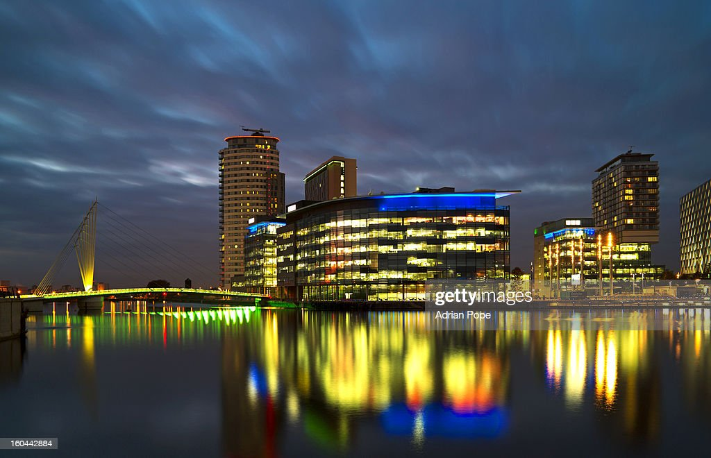 Salford Quays development : Stock Photo