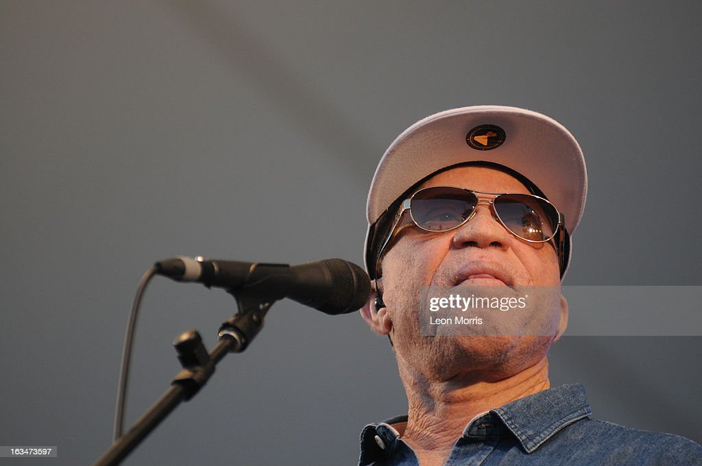 Salif Keita performs on stage at Womadelaide 2013 at Botanic Park on March 10, 2013 in Adelaide, Australia.