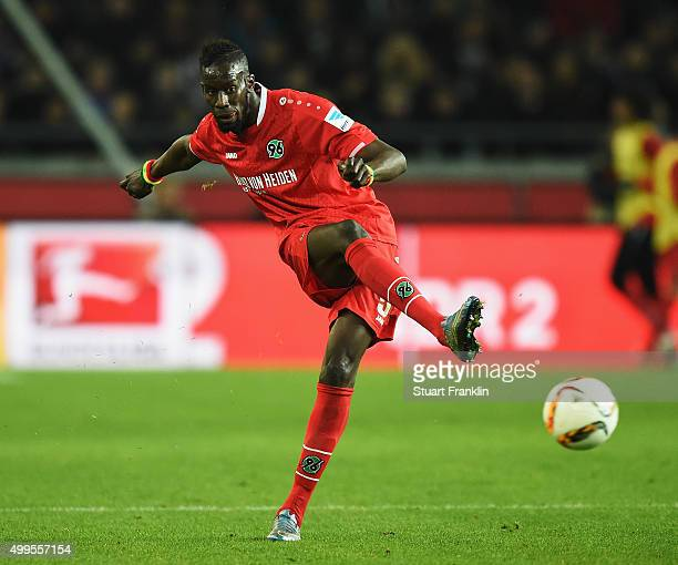 Salif Sané of Hannover in action during the Bundesliga match between Hannover 96 and Hertha BSC at HDIArena on November 6 2015 in Hanover Germany