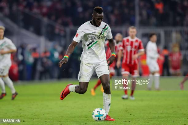 Salif Sane of Hannover controls the ball during the Bundesliga match between FC Bayern Muenchen and Hannover 96 at Allianz Arena on December 2 2017...