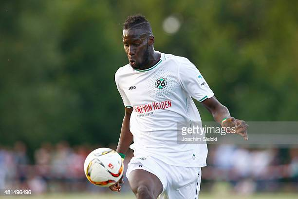 Salif Sane of Hannover during the preseason friendly match between Hannover 96 and RCD Mallorca at WahrenDorff stadium on July 21 2015 in Sehnde...