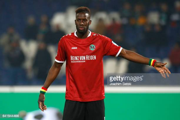 Salif Sane of Hannover during the Second Bundesliga match between Hannover 96 and VfL Bochum 1848 at HDIArena on February 13 2017 in Hanover Germany