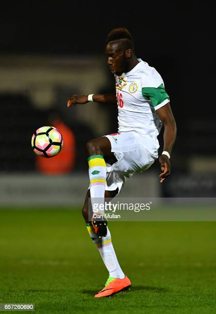 Salif Sane of Senegal controls the ball during the International Friendly match between Nigeria and Senegal at The Hive on March 23 2017 in Barnet...