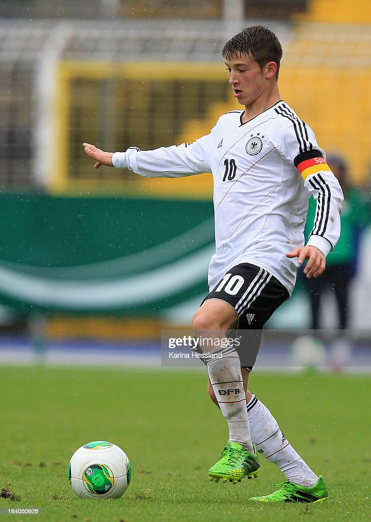 Salih Oezcan of Germany during the friendly match between Germany and Russia at ErnstAbbeSportfeld on October 07 2013 in Jena Germany