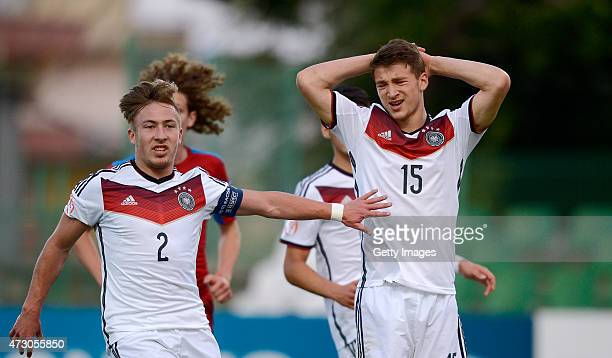 Salih Özcan of Germany U17 reacts after missing a penalty during the UEFA European Under17 Championship match between Germany U17 and Czech Republic...