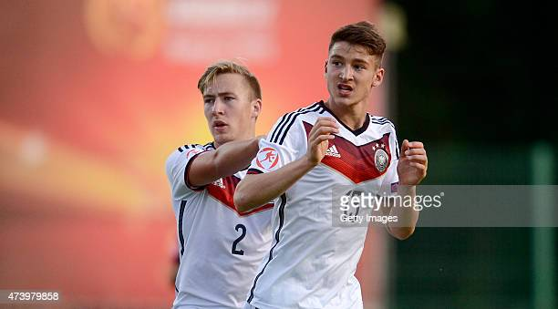 Salih Özcan of Germany U17 reacts after missing during the UEFA European Under17 Championship Semi Final match between Germany U17 and Russia U17 at...