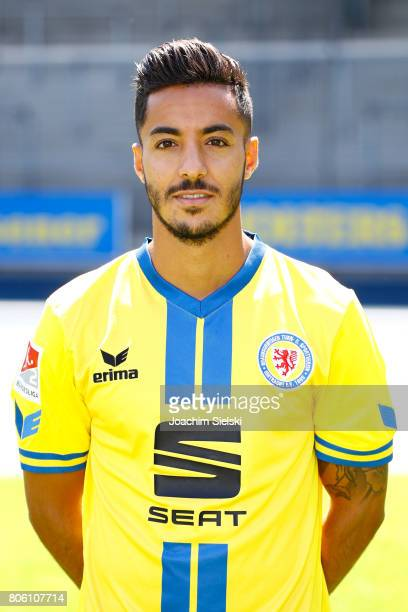 Salim Khelifi of Eintracht Braunschweig poses during the official team presentation of Eintracht Braunschweig at Eintracht Stadion on July 3 2017 in...
