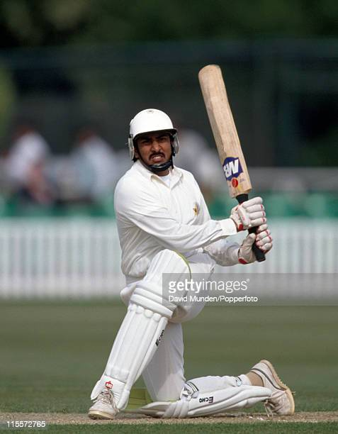 Salim Malik batting for Pakistan during their match against Worcestershire at New Road in Worcester 6th May 1992 Worcestershire won by 5 wickets