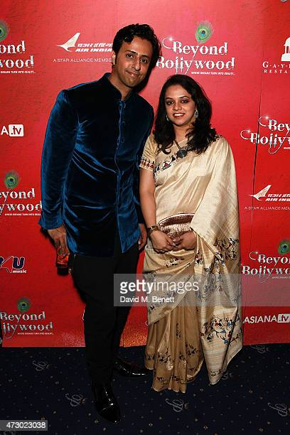 Salim Merchant and Pooja Pant attend an after party following the press night performance of 'Beyond Bollywood' at Cafe de Paris on May 11 2015 in...