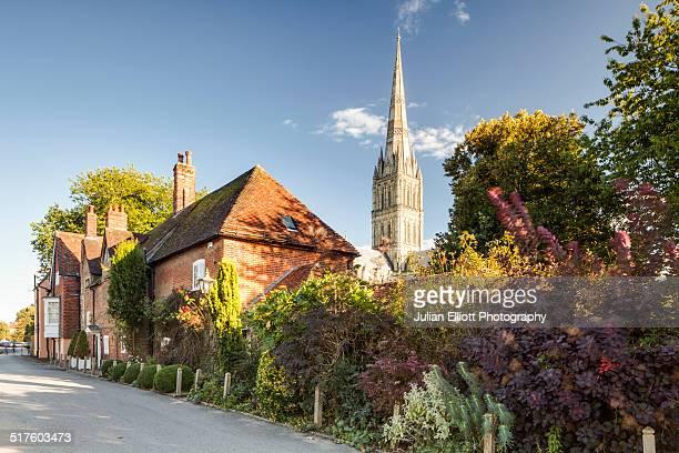 Salisbury cathedral in Salisbury, Wiltshire