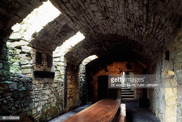 Salle d'armes Chateau de Montcornet ChampagneArdenne France 11th12th century