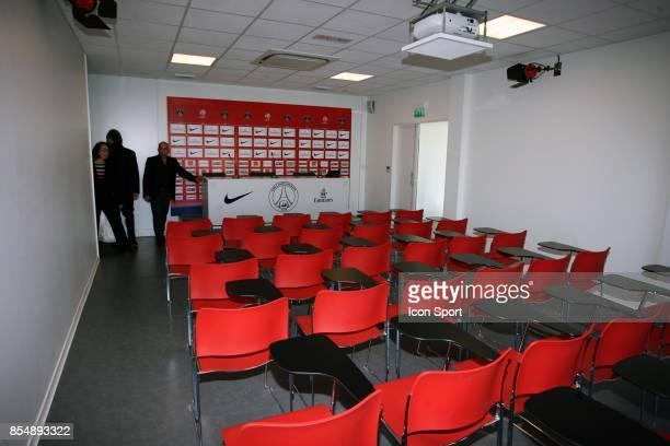 Salle de Presse Inauguration du Nouveau Centre d'entrainement du PSG Saint Germain en Laye Camp des Loges