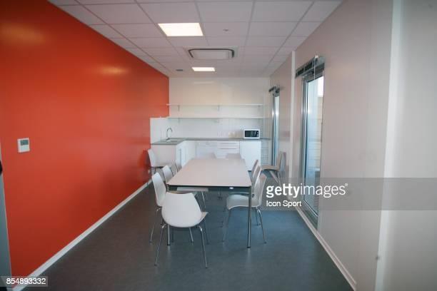 Salle de repos des joueurs Inauguration du Nouveau Centre d'entrainement du PSG Saint Germain en Laye Camp des Loges