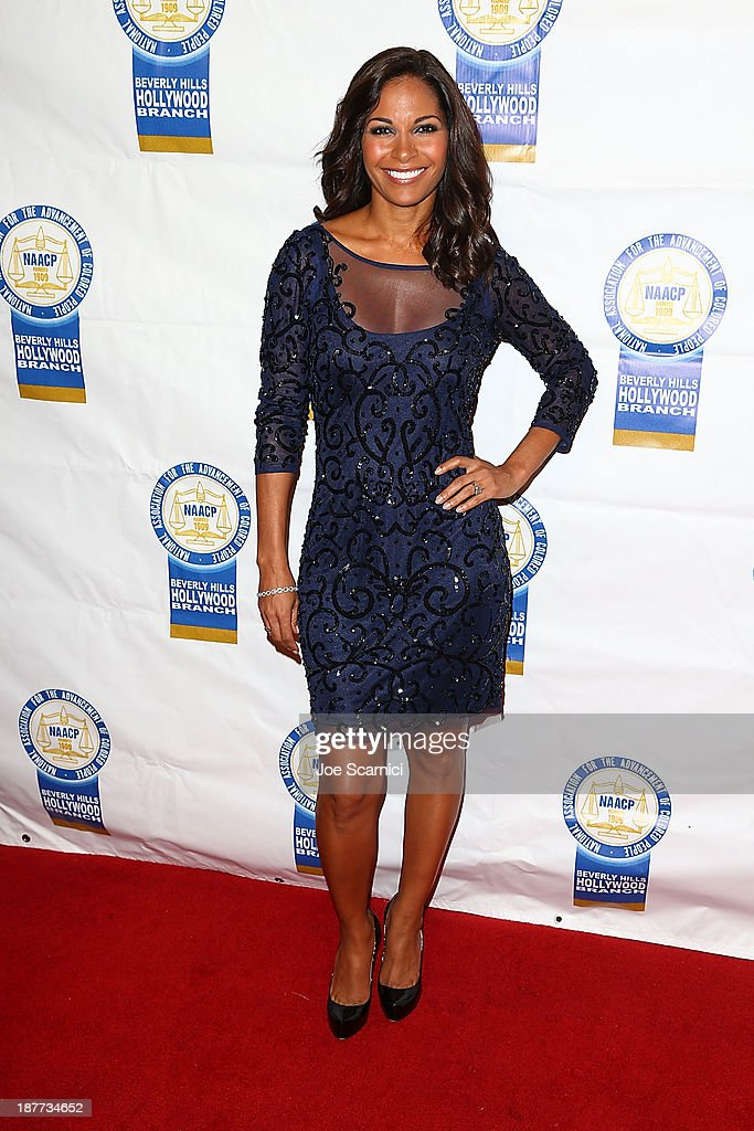 Salli Richardson Whitfield arrives at the 23rd annual NAACP Theatre Awards at Saban Theatre on November 11, 2013 in Beverly Hills, California.