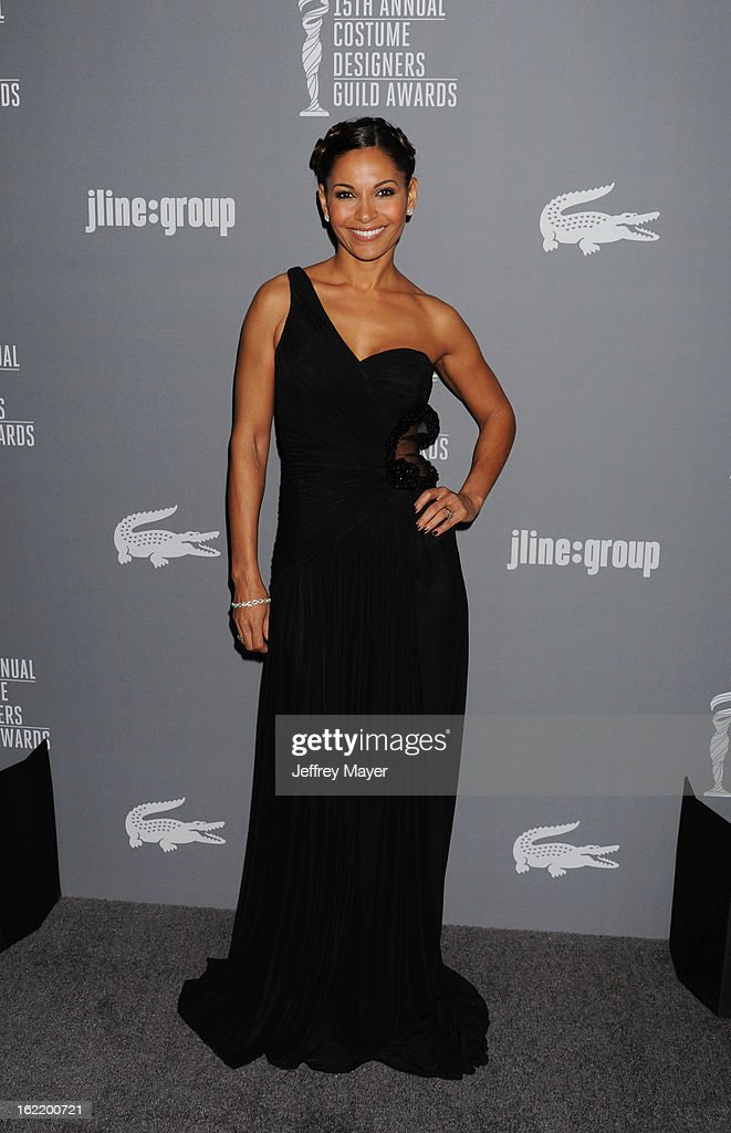 <a gi-track='captionPersonalityLinkClicked' href=/galleries/search?phrase=Salli+Richardson&family=editorial&specificpeople=2717812 ng-click='$event.stopPropagation()'>Salli Richardson</a>-Whitfield arrives at the 15th Annual Costume Designers Guild Awards at The Beverly Hilton Hotel on February 19, 2013 in Beverly Hills, California.