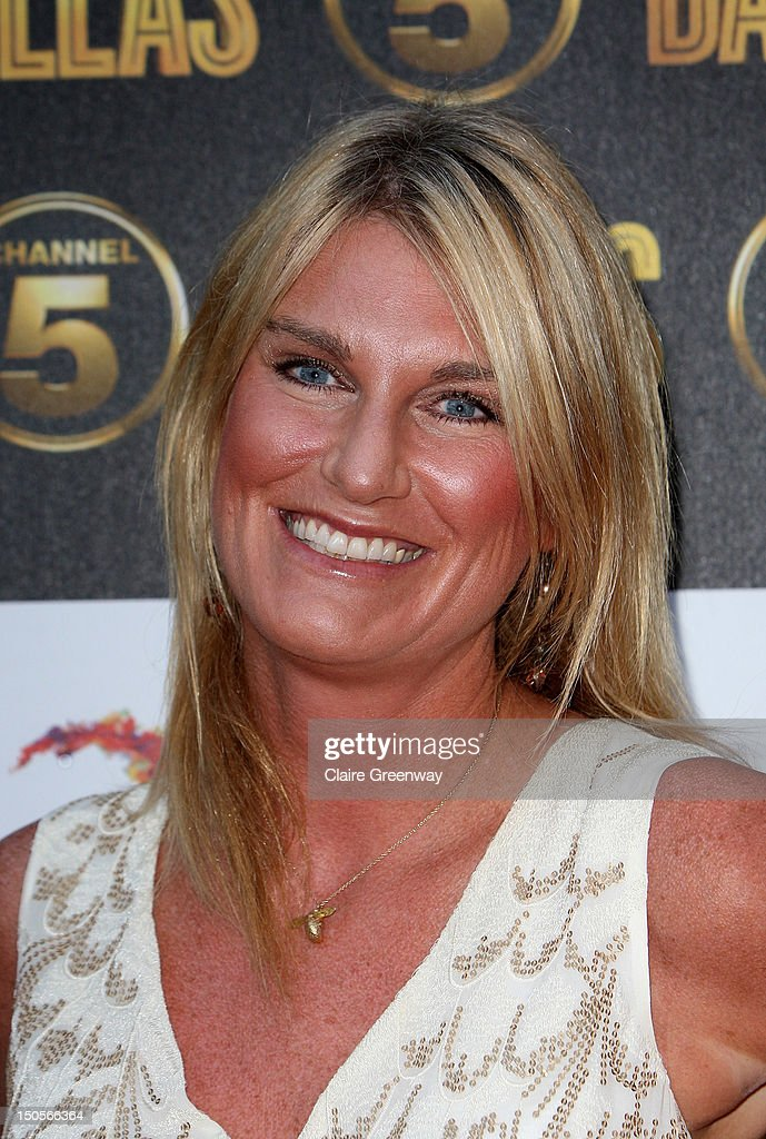 Sally Bercow arrives at the launch party for the new Channel 5 television series of 'Dallas' at Old Billingsgate on August 21, 2012 in London, England.