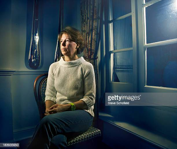 Sally Clarke who was a model for painter Lucien Freud is photographed for Sunday Times magazine on November 28 2012 in London England