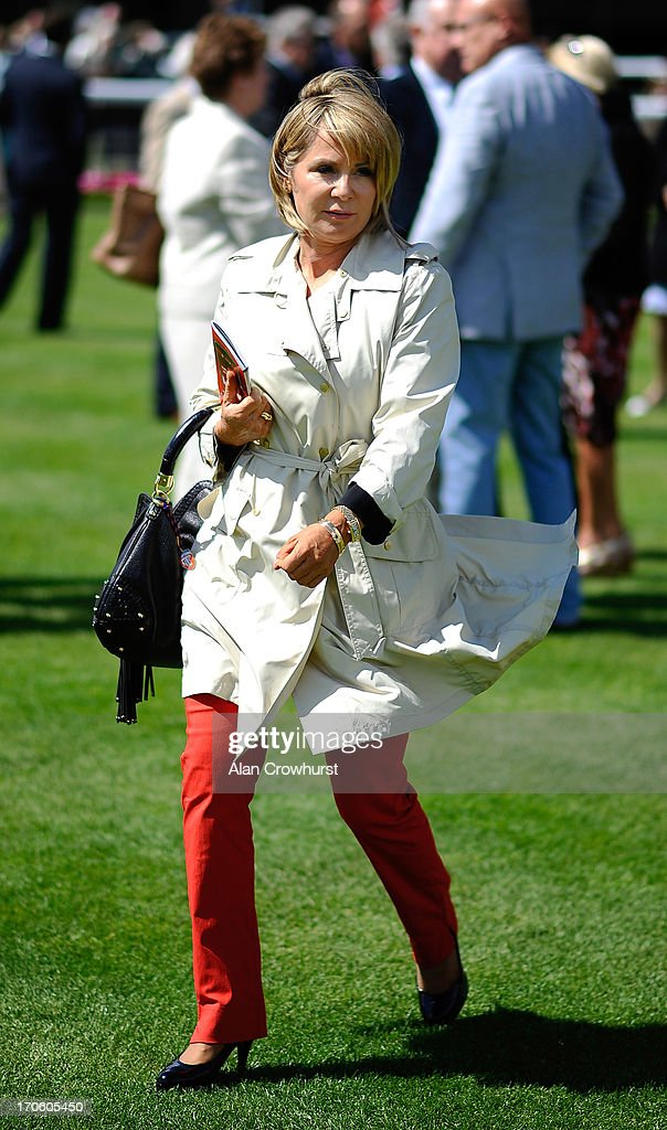 Sally Eddery looks on at York racecourse on June 15, 2013 in York, England.