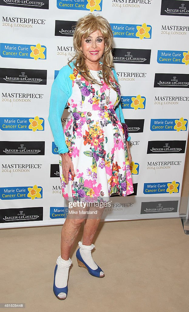 Sally Farmiloe attends the Masterpiece Marie Curie Summer party in partnership with Jaeger Le-Coultre and Heather Kerzner at The Royal Hospital Chelsea on June 30, 2014 in London, England.