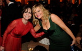 Sally Field and Amy Poehler attend the 2013 Vanity Fair Oscar Party hosted by Graydon Carter at Sunset Tower on February 24 2013 in West Hollywood...