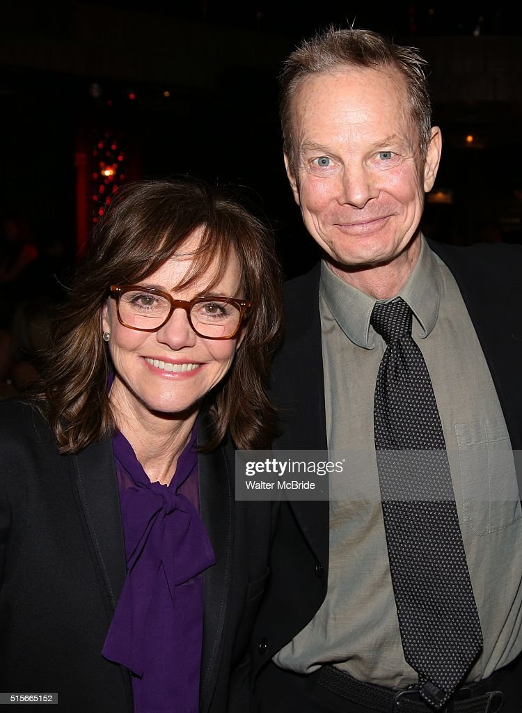 Sally Field and Bill Irwin attend the cocktail party for the Vineyard Theatre 2016 Gala at the Edison Ballroom on March 14 2016 in New York City