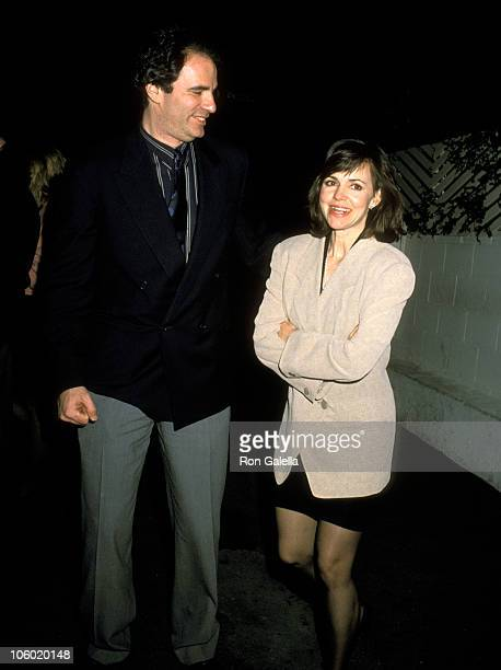 Sally Field and Husband Alan Greisman during 'Dirty Dancing' Hollywood Premiere Party February 11 1989 at Spago's Restaurant in Hollywood California...