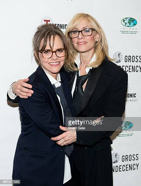 Sally Field and Judith Light attend the 'Gross Indecency The Three Trials Of Oscar Wilde' after party at John Jay College on October 5 2015 in New...