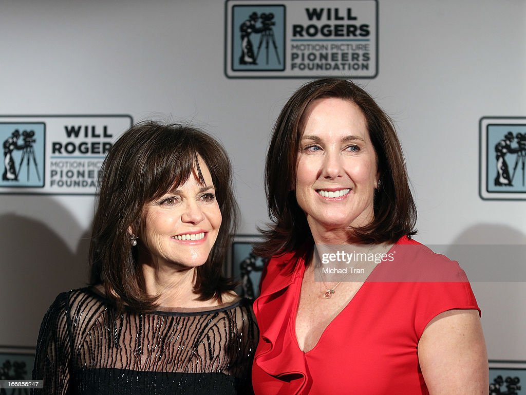 Sally Field (L) and Kathleen Kennedy arrive at CinemaCon 2013 'Pioneer of the Year' Awards honoring Kathleen Kennedy held at Caesars Palace on April 17, 2013 in Las Vegas, Nevada.