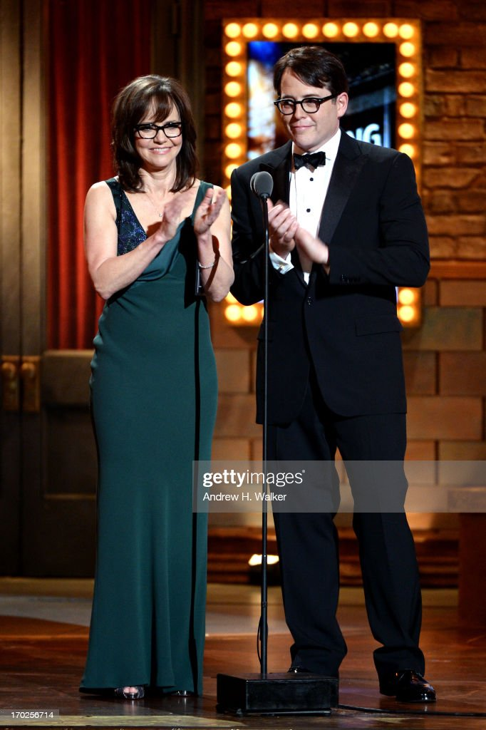 Sally Field and Matthew Broderick speak onstage at The 67th Annual Tony Awards at Radio City Music Hall on June 9 2013 in New York City