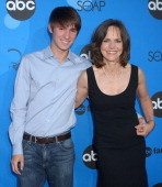 Sally Field and Son Sam during ABC All Star Party 2006 Arrivals at Rose Bowl in Pasadena California United States