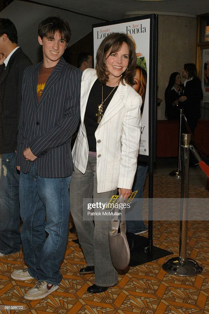 Sally Field and son Sam Griesman attends MonsterInLaw Los Angeles Premiere at Mann National Theatre on April 29 2005 in Los Angeles California