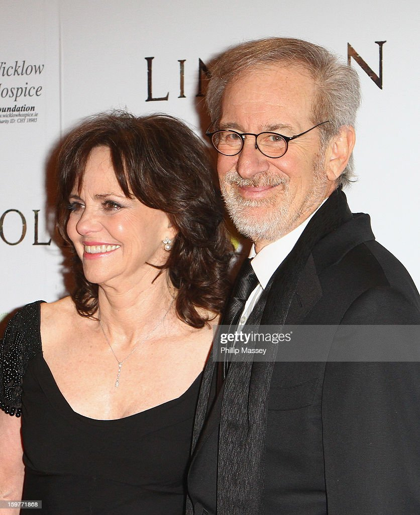 Sally Field and Steven Spielberg attends the European premiere of 'Lincoln' on January 20, 2013 in Dublin, Ireland.