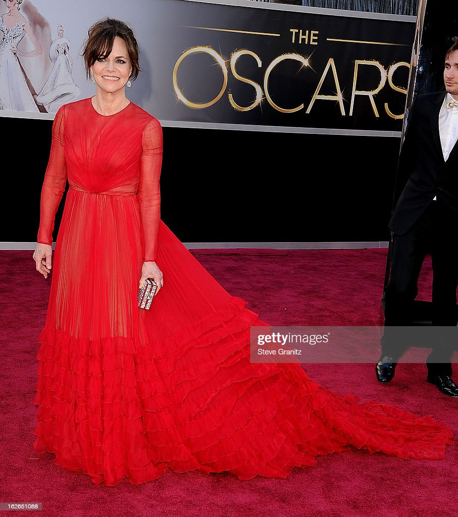 Sally Field arrives at the 85th Annual Academy Awards at Dolby Theatre on February 24, 2013 in Hollywood, California.