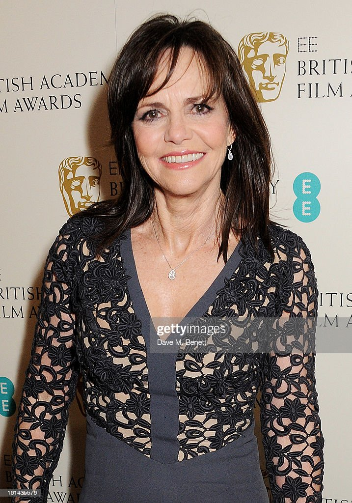 Sally Field arrives at the EE British Academy Film Awards at the Royal Opera House on February 10, 2013 in London, England.