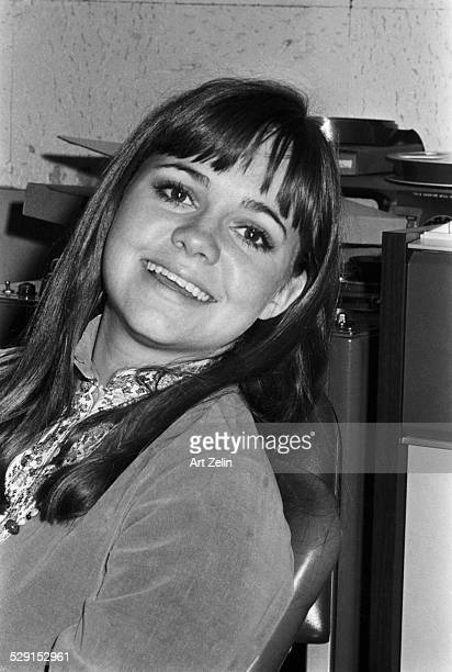 Sally Field backstage at Columbia Pictures for Gidget in LA circa 1970 California