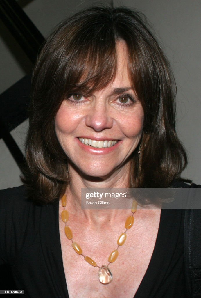 Sally Field during Sally Field Visits 'The Pillowman' on Broadway at The Booth Theater in New York City New York United States