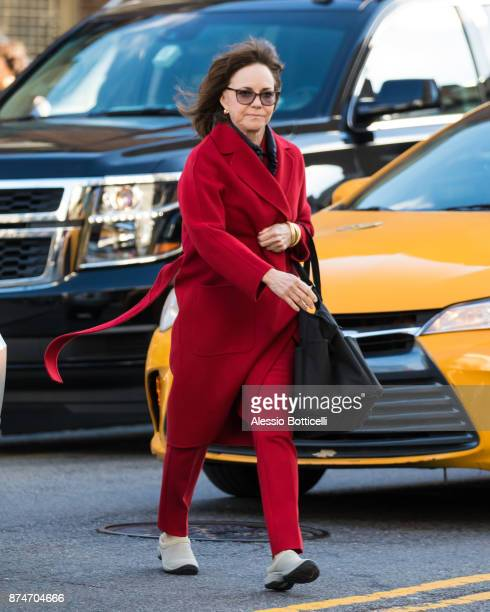Sally Field is seen on set of 'Maniac' on November 15 2017 in New York New York