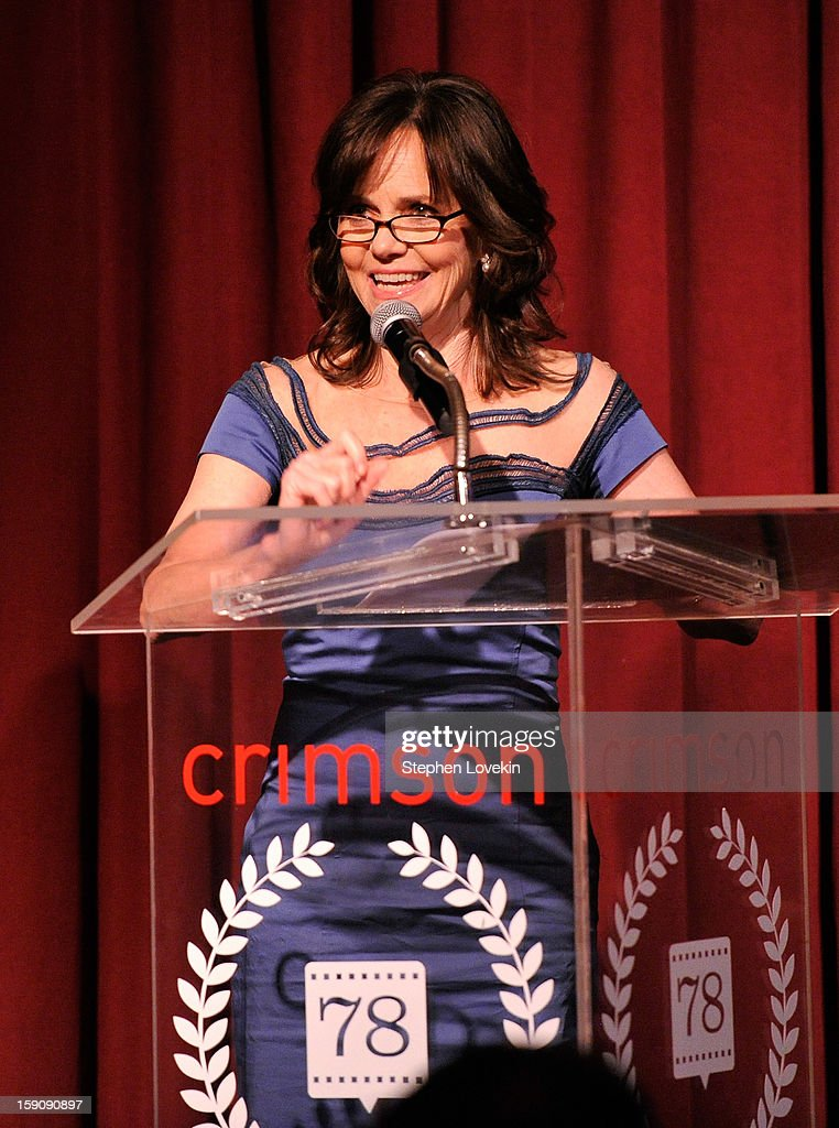 <a gi-track='captionPersonalityLinkClicked' href=/galleries/search?phrase=Sally+Field&family=editorial&specificpeople=206350 ng-click='$event.stopPropagation()'>Sally Field</a> speaks onstage at the 2012 New York Film Critics Circle Awards at Crimson on January 7, 2013 in New York City.