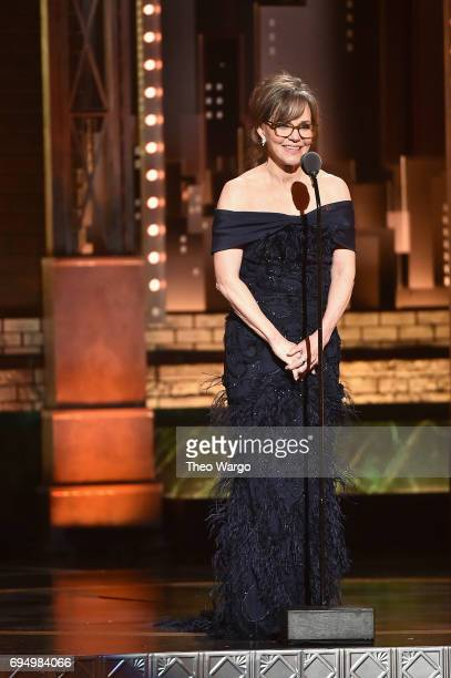 Sally Field speaks onstage during the 2017 Tony Awards at Radio City Music Hall on June 11 2017 in New York City