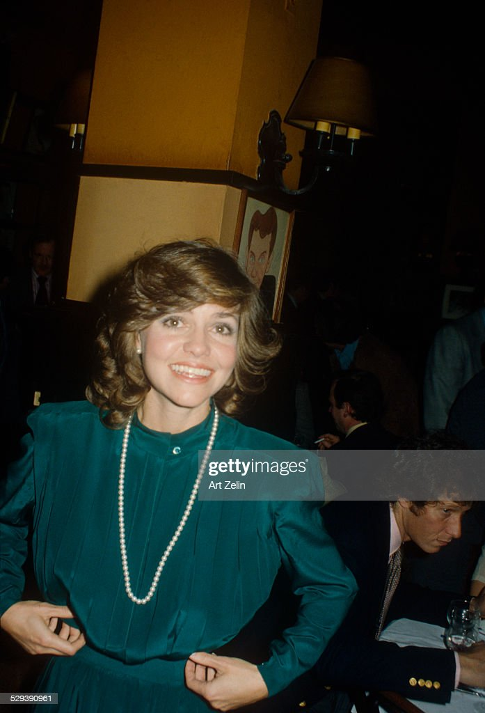 Sally Field wearing green at Sardi's circa 1970 New York