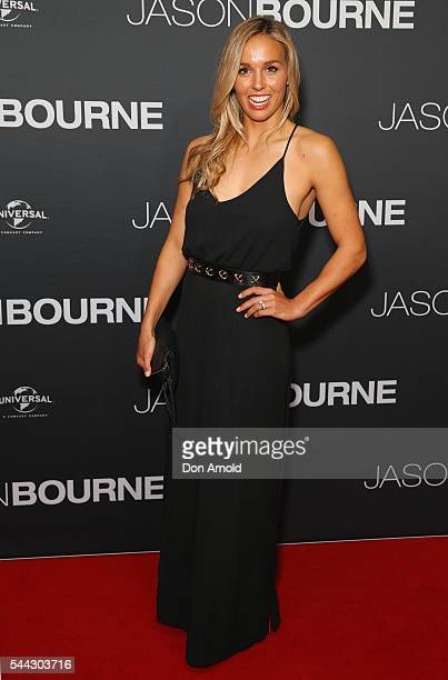 Sally Fitzgibbons arrives ahead of the Jason Bourne Australian Premiere at Hoyts Entertainment Quarter on July 3 2016 in Sydney Australia