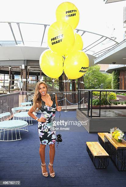 Sally Fitzgibbons arrives ahead of the Pretty Shady launch at Cafe Del Mar on November 12 2015 in Sydney Australia
