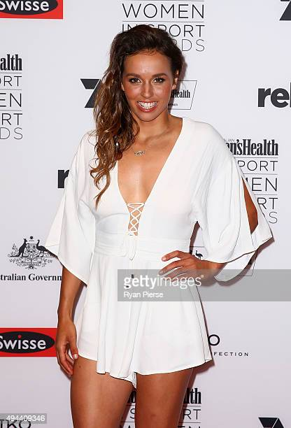 Sally Fitzgibbons arrives ahead of the Women's Health I Support Women in Sport Awards at Hordern Pavilion on October 27 2015 in Sydney Australia