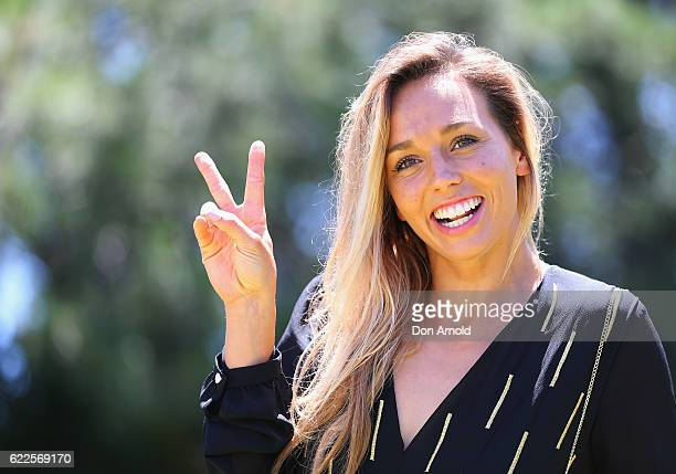 Sally Fitzgibbons arrives at Polo In The City at Centennial Park on November 12 2016 in Sydney Australia