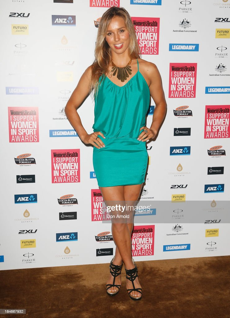 Sally Fitzgibbons arrives at the 'I Support Women In Sport' awards at The Ivy Ballroom on October 15, 2013 in Sydney, Australia.