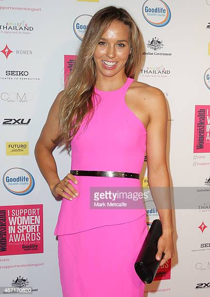 Sally Fitzgibbons arrives at the 'I Support Women In Sport' awards at Establishment on October 13 2014 in Sydney Australia