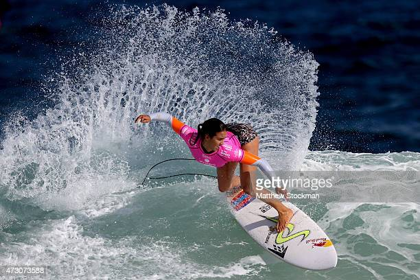 Sally Fitzgibbons of Australia surfs during Round 1 Heats at the Oi Rio Pro on May 12 2015 in Rio de Janeiro Brazil