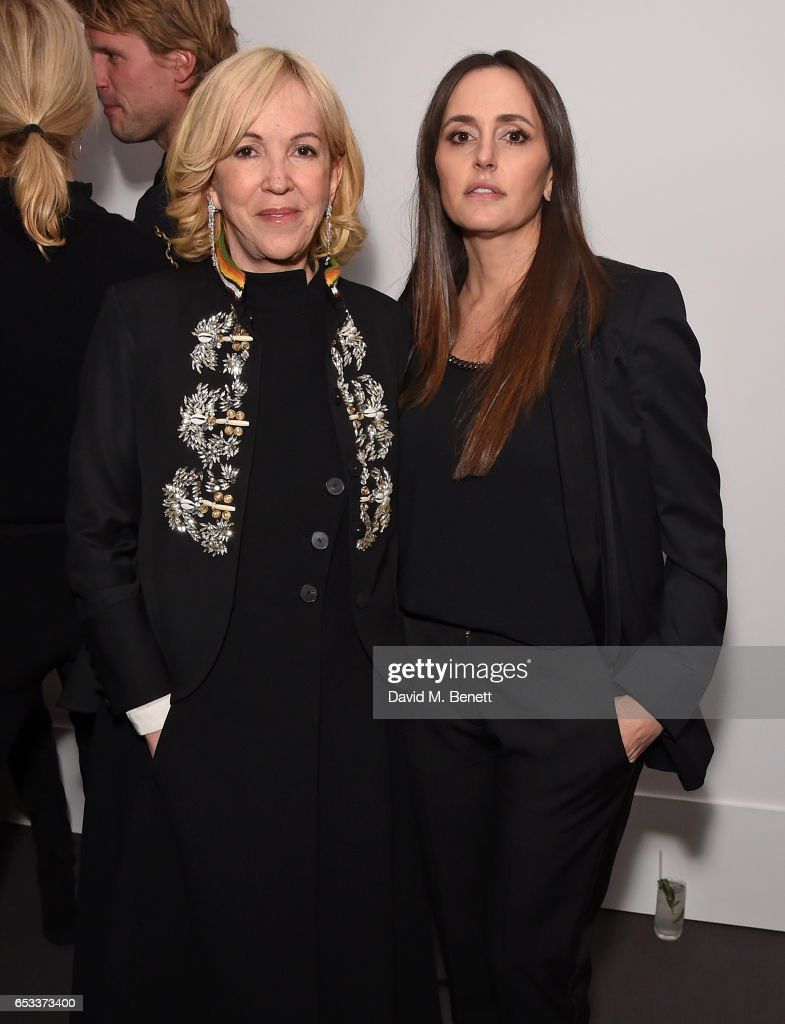 Sally Green and Tania Fares attend the launch of new book 'London Uprising: Fifty Fashion Designers, One City' by Tania Fares and Sarah Mower at Sotheby's on March 14, 2017 in London, England.