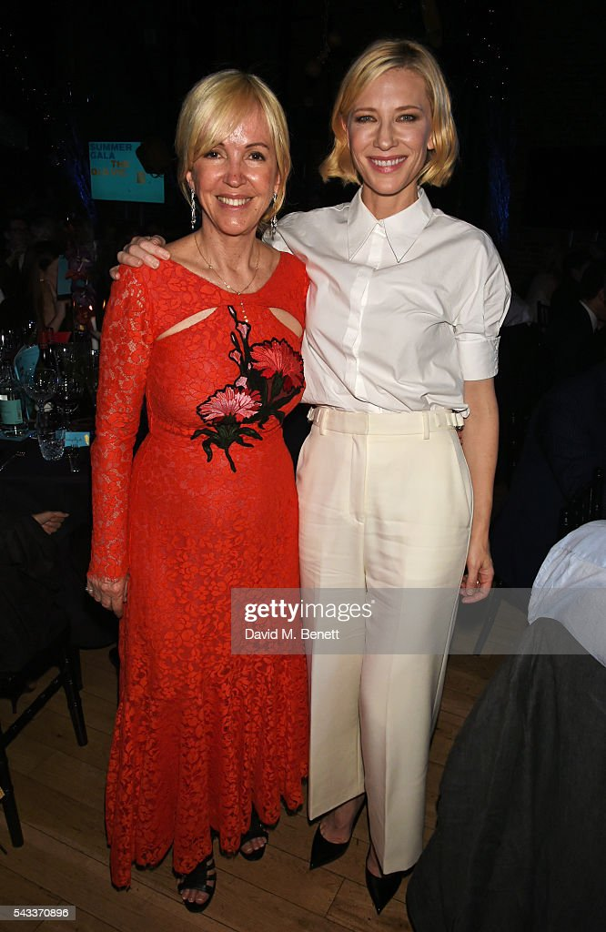 Sally Greene (L) and <a gi-track='captionPersonalityLinkClicked' href=/galleries/search?phrase=Cate+Blanchett&family=editorial&specificpeople=201621 ng-click='$event.stopPropagation()'>Cate Blanchett</a> attend the Summer Gala for The Old Vic at The Brewery on June 27, 2016 in London, England.