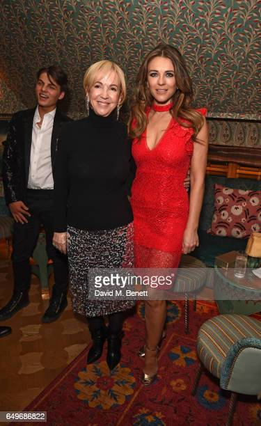 Sally Greene and Elizabeth Hurley attend the World Premiere after party for 'The Time Of Their Lives' at 5 Hertford Street on March 8 2017 in London...